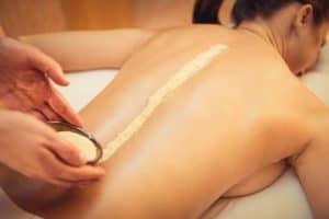 Massage mit Bockshornklee